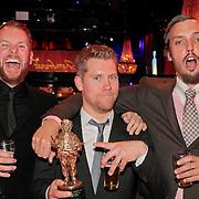 NLD/Amsterdam/20110328 - Uitreking Rembrandt Awards 2011, Steffen Haars, Tim Haars,  Flip van der Kuil
