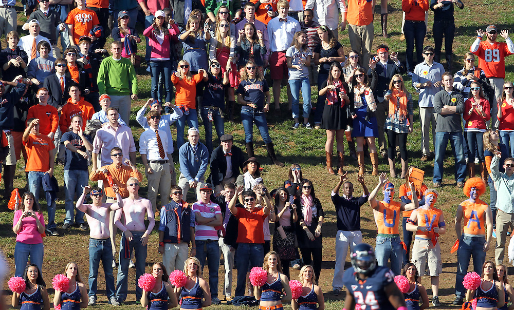 Oct. 22, 2011 - Charlottesville, Virginia - USA; Virginia Cavaliers fans during an NCAA football game at the Scott Stadium. NC State defeated Virginia 28-14. (Credit Image: © Andrew Shurtlef