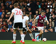 Jack Grealish of Aston Villa before his equilizer during the Sky Bet Championship match at Craven Cottage, London<br /> Picture by Richard Brooks/Focus Images Ltd 07947656233<br /> 17/04/2017