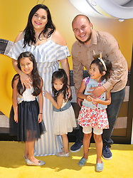 """Jenicka Lopez, Mikey Rivera and Kids arrives at the """"Despicable Me 3"""" Los Angeles Premiere held at the Shrine Auditorium in Los Angeles, CA on Saturday, June 24, 2017.  (Photo By Sthanlee B. Mirador) *** Please Use Credit from Credit Field ***"""