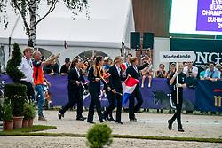 Team Netherlands, Lips Tim, Ruyter Allene, Blom Merel, Kluytmans Ilonka, Hoogeveen Laura<br /> European Championship Eventing<br /> Luhmuhlen 2019<br /> © Hippo Foto - Dirk Caremans