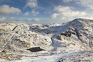 Styhead Tarn, Seathwaite Fell and Great End from Gt Gable
