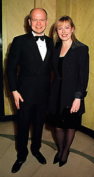 MR & MRS WILLIAM HAGUE, he is leader of the Conservative party,  at a dinner in London on 29th February 2000.OBS 52