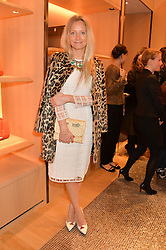 MARTHA WARD at the opening party for Moynat's new Maison de Vente in Mayfair at 112 Mount Street, London W1 on 12th March 2014.