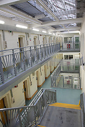 © London News Pictures. 02/11/2013. Maidstone, Kent, UK. General interior images of HMP Maidstone (2010) in Kent. Allegedly up to 180 prisoners are involved in an ongoing incident at Maidstone Prison in Kent this evening 2nd November 2013. Maidstone prison is a Category C jail with prisoners including sex offenders and foreign nationals with more than 18 months left to serve.Picture credit should read Manu Palomeque/LNP