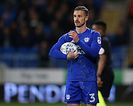 Joe Bennett of Cardiff City in action.EFL Skybet championship match, Cardiff city v Barnsley at the Cardiff city stadium in Cardiff, South Wales on Tuesday 6th March 2018.<br /> pic by Andrew Orchard, Andrew Orchard sports photography.
