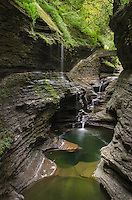 Waterfalls along the Gorge Trail, Watkins Glen State Park, Finger Lakes region, New York