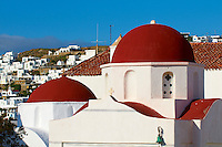 Grèce, Les Cyclades, Ile de Mykonos, Ville de Chora, église Agia Eleni // Greece, Cyclades, Mykonos island, Chora, Mykonos town, Agia Eleni church