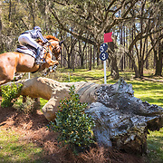 Jennifer Brannigan (USA) and FE Lifestyle at the Red Hills International Horse Trials in Tallahassee,  Florida.