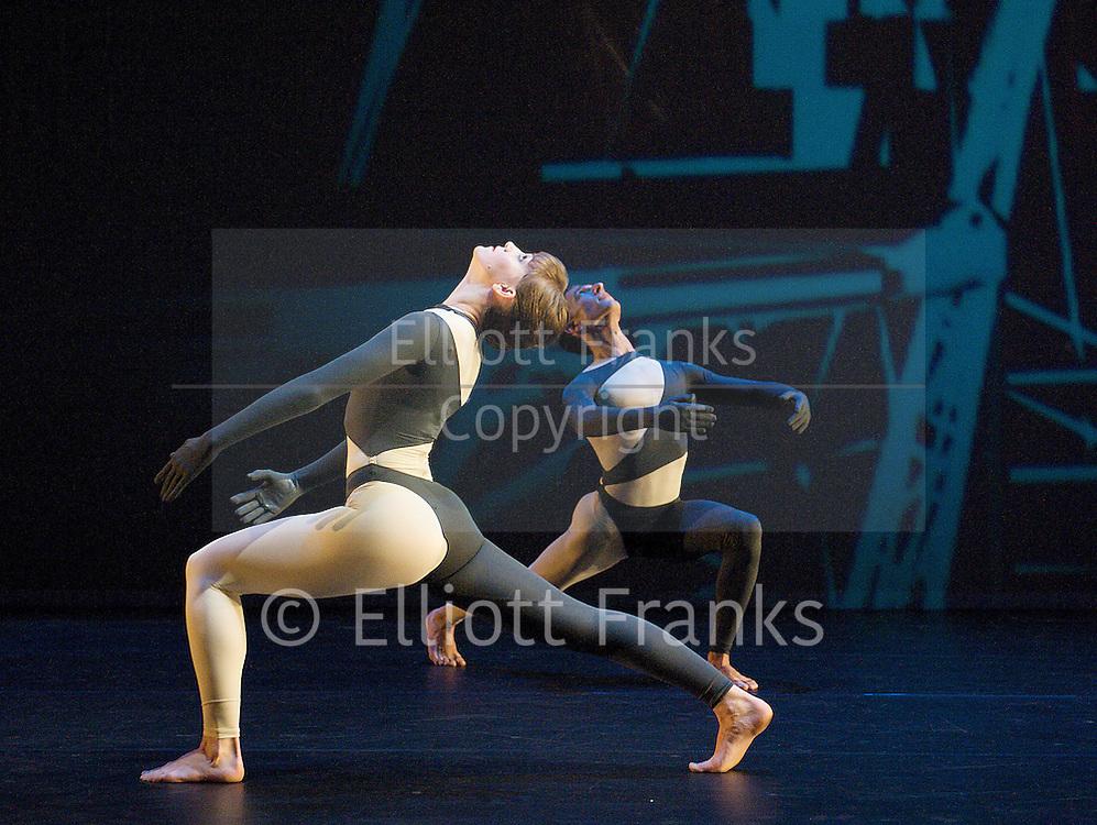 Nearly Ninety<br /> The Merce Cunningham Dance Company <br /> choreography by Merce Cunningham<br /> at The Barbican Theatre, London, Great Britain <br /> rehesrsal <br /> 26th October 2010 <br /> <br /> <br /> <br /> Jamie Scott <br /> Daniel Madoff<br /> <br /> <br /> <br /> Photograph by Elliott Franks<br /> 2010©Elliott Franks