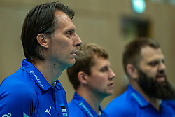 12-06-2019 NED: Golden League Netherlands - Estonia, Hoogeveen<br /> Fifth match poule B - The Netherlands win 3-0 from Estonia in the series of the group stage in the Golden European League / Head Coach Gheorghe Cretu of Estonia