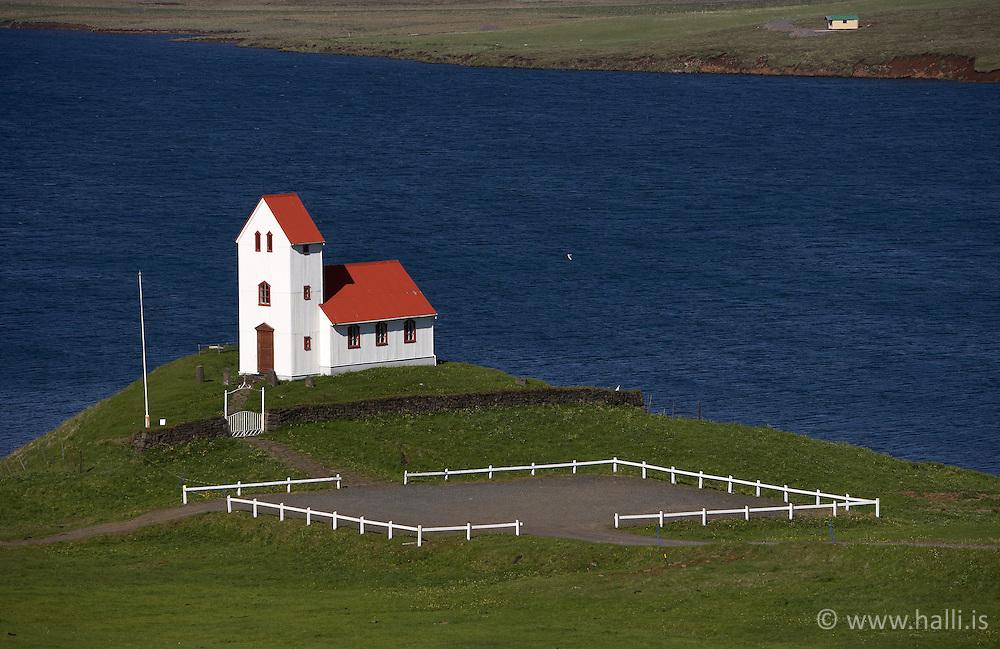 Church at the lake, Ulfljotsvatn, Iceland / Kirkja við Úlfljótsvatn