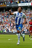 Football - 2013 / 2014 Championship  - Brighton & Hove Albion vs. Derby County<br /> Brighton's Leonardo Ulloa celebrates his opening goal at The American Express Community Stadium <br /> Colorsport/Shaun Boggust