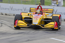 June 1, 2018 - Detroit, Michigan, United States of America - Ryan Hunter-Reay (28) takes to the track for a practice session for the Detroit Grand Prix at Belle Isle Street Course in Detroit, Michigan. (Credit Image: © Stephen A. Arce/ASP via ZUMA Wire)
