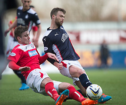 Brechin City's Darren McCormack and Falkirk's Rory Loy. <br /> Falkirk 2 v 1 Brechin City, Scottish Cup fifth round game played today at The Falkirk Stadium.