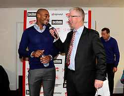 man of the match presentation - Photo mandatory by-line: Dougie Allward/JMP - Tel: Mobile: 07966 386802 04/01/2014 - SPORT - FOOTBALL - Ashton Gate - Bristol - Bristol City v Watford - FA Cup - Third Round