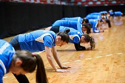 during practice session of Slovenian National Women team before 2021 World Women's Handball Championship qualifying match against Iceland, on April 12, 2021 in Arena Kodeljevo, Ljubljana, Slovenia. Photo by Vid Ponikvar / Sportida
