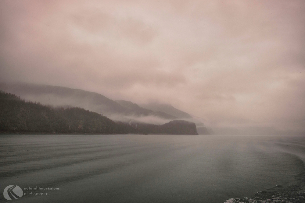 Misty Kenai Fjords.  Resurrection Bay and Beyond into the Ocean