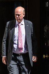 London, UK. 16 July, 2019. Chris Grayling MP, Secretary of State for Transport, leaves 10 Downing Street following a Cabinet meeting.