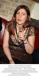 PR guru LYNNE FRANKS, at a party in London on 26th March 2003.	PIM 142