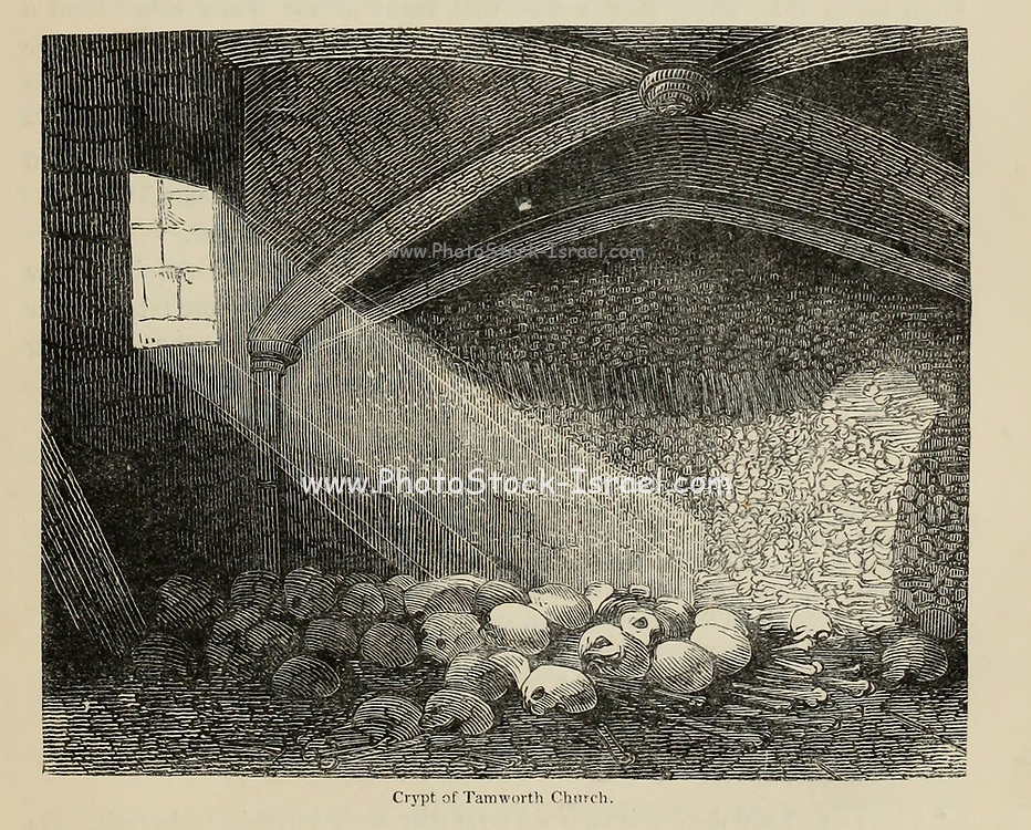 Crypt of Tamworth [Staffordshire] Church From the book The wanderings of a pen and pencil by Palmer, F. P. (Francis Paul); Illustrated by Crowquill, Alfred, [Alfred Henry Forrester]  Published in London by Jeremiah How in 1846