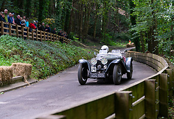 Boness Revival hillclimb motorsport event in Boness, Scotland, UK. The 2019 Bo'ness Revival Classic and Hillclimb, Scotland's first purpose-built motorsport venue, it marked 60 years since double Formula 1 World Champion Jim Clark competed here.  It took place Saturday 31 August and Sunday 1 September 2019. 19 Tom Richardson Riley MPH