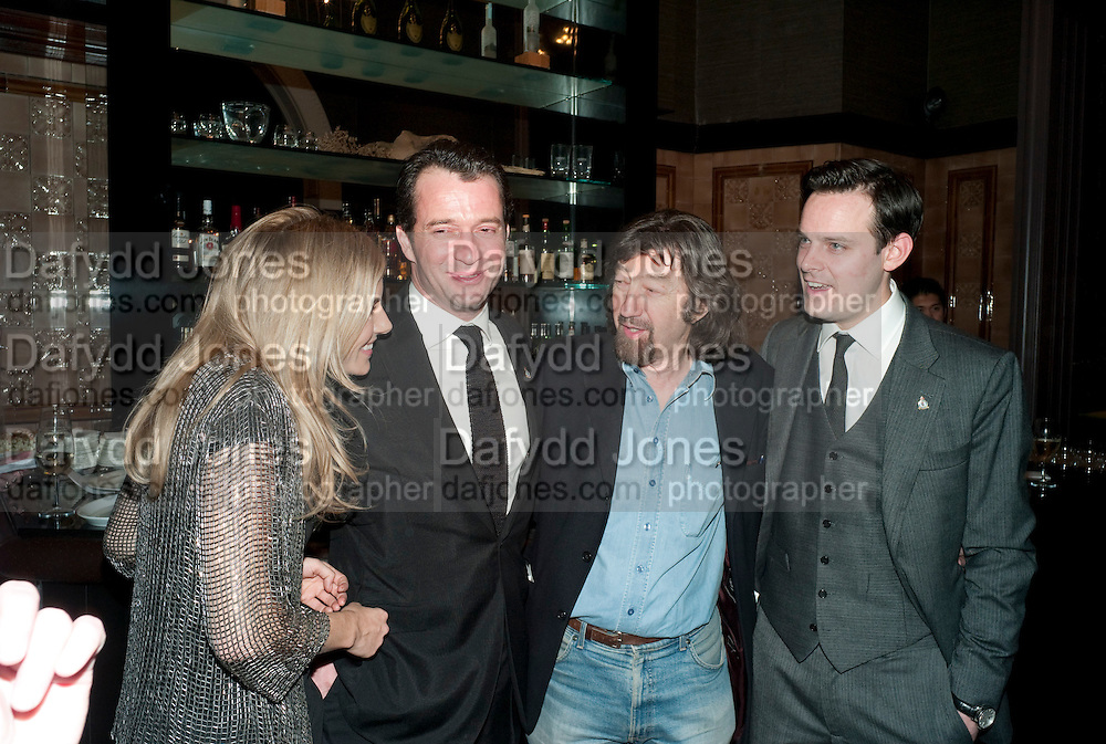 SIENNA MILLER; JAMES PUREFOY; SIR TREVOR-NUNN; HARRY HADDEN-PATON, After -party celebrating the Gala Preview of the new west end production of Flare Path, Whitehall. March 10 2011.  -DO NOT ARCHIVE-© Copyright Photograph by Dafydd Jones. 248 Clapham Rd. London SW9 0PZ. Tel 0207 820 0771. www.dafjones.com.