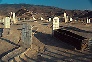 SPAIN, ANDALUSIA 'Mini Hollywood' movie set for westerns; 'boothill', near Tabernas, north of Almeria