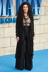 © Licensed to London News Pictures. 16/07/2018. London, UK. Cher attends the Mamma Mia! Here We Go Again World Film Premiere at Eventime Apollo Hammersmith. Photo credit: Ray Tang/LNP