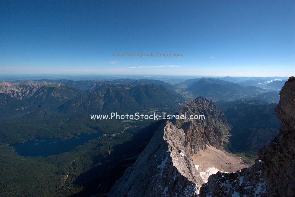 Austria, Tyrol, Reutte, Lermoos, Zugspitze Mountain skiing resort August 2008