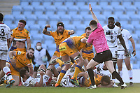 Rugby Union - 2020 / 2021 European Rugby Heineken Champions Cup - Round of 16 - Exeter Chiefs vs Lyons - Sandy Park<br /> <br /> Exeter Chiefs' Jonny Hill scores his sides second try.<br /> <br /> COLORSPORT/ASHLEY WESTERN