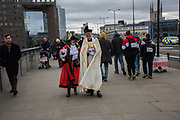 The Blessing of the river, St. Magnus the Martyr and Southwark Cathedral join on London Bridge to Bless the river Thames. 13 January 2019
