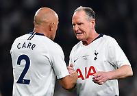 Football - 2018 / 2019 New Tottenham Hotspur Stadium Test Event, Two - Spurs Legends vs. Inter Forever<br /> <br /> Spurs Legends' Paul Gascoigne with Stephen Carr, at Tottenham Hotspur Stadium.<br /> <br /> COLORSPORT/ASHLEY WESTERN