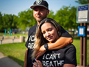 28 JUNE 2020 - DES MOINES, IOWA: About 75 people attended a vigil for crime victims and their survivors in Evelyn K. Davis Park in Des Moines. The vigil followed the murder of Sir William Bekish, 29, a prominent figure in Des Moines' Black community Saturday night. The vigil was for all crime victims and their survivors.    PHOTO BY JACK KURTZ