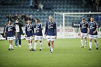 Fotball , 18. oktober 2009 , tippeligaen , Viking Stadion ,   Viking v Rosenborg , Jørgen Horn (m) , Viking og resten av laget depper etter 0-0 ,    Foto: Tommy Ellingsen