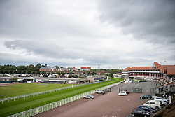 © Licensed to London News Pictures. 11/09/2020. Chester, UK. Chester Racecourse holds Racing Behind Closed Behind Doors races today [11/09/2020], the first race of the day will be at 2:20pm. Nuns Road and footpaths surrounding the racecourse are closed during racing to prevent further spectators. Photo credit: Kerry Elsworth/LNP