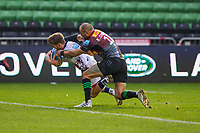 Rugby Union - 2020 / 2021 Gallagher Premiership - Round 4 - Harlequins vs Bristol Bears  - The Stoop<br /> <br /> Harry Randall, of Bristol Bears, goes over to score his teams 3rd try<br /> <br /> COLORSPORT/DANIEL BEARHAM