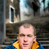 Spanje, Girona, 28-03-2011.<br /> Robert Gesink, wielrenner van de Rababank wielerploeg, in Girona.<br /> Foto : Klaas Jan van der Weij