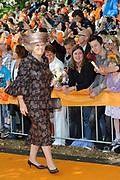 Koninginnedag 2011 in de Limburgse plaats Weert // Queen's Day 2011 in the southern of Holland ( Limburg). The Royal family is visiting the city of Weert.<br /> <br /> Op de foto / On the photo:  Koningin Beatrix / Queen Beatrix