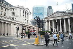 July 3, 2017 - London, United Kingdom - The Bank of England is pictured in London on July 3, 2017. Workers at the Bank of England will stage a four-day strike starting on 31 July in support of a pay claim. (Credit Image: © Alberto Pezzali/NurPhoto via ZUMA Press)