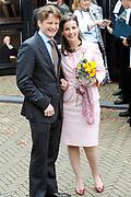 Koninginnedag 2008 / Queensday 2008. <br /> <br /> Koningin Beatrix viert Koninginnedag dit jaar in Friesland. De vorstin en haar familie bezochten op 30 april Makkum en Franeker.<br /> <br /> Queen Beatrix celebrates Queensday this year in Friesland (the Nothren provice in Holland). The Queen and its family visited Makkum and Franeker on 30 April.<br /> <br /> Op de foto/ On the Photo: Prins Pieter-Christiaan en Prinses Anita / Prins Pieter-Christiaan en Prinses Anita