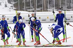 Slovenian biathlon team before new season 2009/2010,  on November 16, 2009, in Pokljuka, Slovenia.   (Photo by Vid Ponikvar / Sportida)