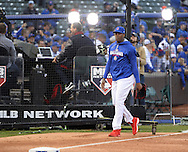 CHICAGO, IL - OCTOBER 28:  Aroldis Chapman #54 of the Chicago Cubs looks on prior to Game 3 of the 2016 World Series at Wrigley Field on Friday, October 28, 2016 in Chicago, Illinois. (Photo by Ron Vesely/MLB Photos via Getty Images)