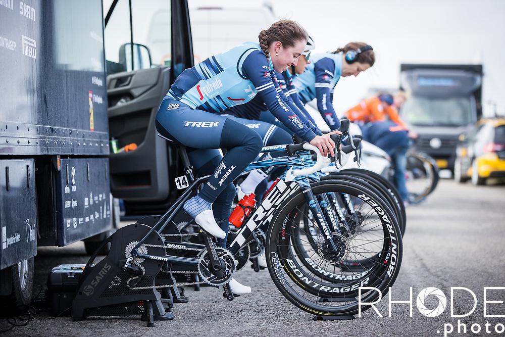 Shirin Van Anrooij (NED/Trek Segafredo) pre race warming up<br /> <br /> Healthy Ageing Tour (NED) 2021<br /> UCI Women Elite 2.1<br /> Stage 2 : Individual Time Trial (ITT) – Lauwersoog – Het Hoogeland 14.4km<br /> <br /> ©RhodePhoto