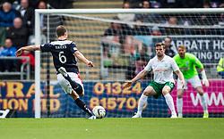 Falkirk's Will Vaulks shoots. Falkirk 0 v 3 Hibernian, Scottish Championship game played at The Falkirk Stadium 2/5/2015.