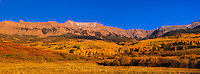 Panoramic view, San Juan Mountains along Last Dollar Road between Ridgway and Telluride, Colorado USA.