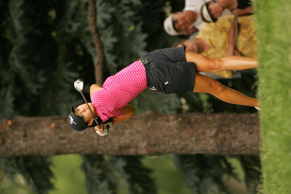 Michelle Wie<br />2005 U.S. Women's Open Championship<br />Third Round<br />Cherry Hills CC<br />Cherry Hills Village, CO<br />Saturday, June 25 2005<br />photograph by Darren Carroll