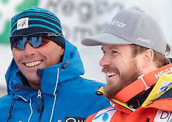 28.12.2017, Stelvio, Bormio, ITA, FIS Weltcup, Ski Alpin, Abfahrt, Herren, im Bild Markus Waldner (FIS Chef Renndirektor Weltcup Ski Alpin Herren) und Kjetil Jansrud (NOR, 3. Platz) // Markus Waldner Chief Race Director World Cup Ski Alpin Men of FIS and third placed Kjetil Jansrud of Norway of Italy reacts after his run of the men's downhill of FIS Ski Alpine World Cup at the Stelvio course, Bormio, Italy on 2017/12/28. EXPA Pictures © 2012, PhotoCredit: EXPA/ Johann Groder#
