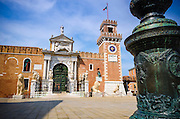 The entrance to the Arsenal, Venice, Veneto, Italy