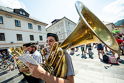 Music band in Idrija during 3rd Stage of 26th Tour of Slovenia 2019 cycling race between Zalec and Idrija (169,8 km), on June 21, 2019 in Slovenia. Photo by Vid Ponikvar / Sportida